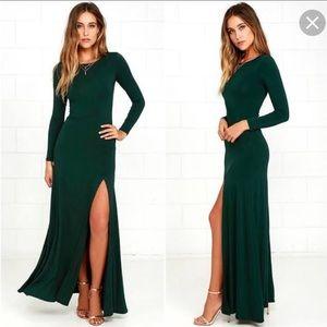 Lulu's Hunter Green Dress